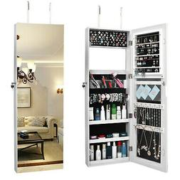 Wall Door Hang Mirror Jewelry Cabinet Lockable Armoire Organ