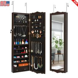 Wall / Door Mounted Jewelry Armoire Cabinet Organizer With 1