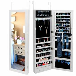 Wall/ Door Mounted Jewelry Cabinet Armoire Large Jewelry Box