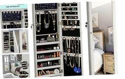 YOKUKINA Jewelry Mirror Armoire Cabinet, Large Storage Organ